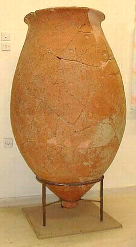 Tzanata, mycenean pronged bottom jar from the vaulted tomb at Tzanata (1350-1100 BC) TZANATA (Settlement) KEFALLONIA